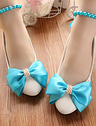 cheap -Women's Wedding Shoes Flat Heel Round Toe Wedding Pumps Wedding Walking Shoes PU Lake blue [flat bottom] 2020 version standard code Lake blue [3 cm heel] standard size Lake blue [5 cm heel] standard