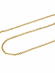 cheap -18k gold plated rolo chain necklace for men women chains 2mm 22inch minimalist tiny small 316l stainless steel chain