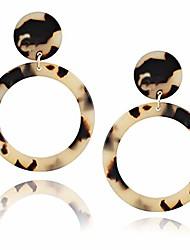 cheap -Acrylic Hoop Earrings for Women Dangle Drop Earrings Bohemia Tortoise Shell Stud Earrings Statement Fashion Large Earrings (AEH1-LR1-Leopard)
