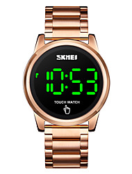 cheap -SKMEI Men's Digital Watch Digital Digital Stylish LED Light Shock Resistant Noctilucent / One Year / Stainless Steel