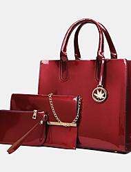 cheap -women 3pcs pu leather multi-piece leather solid color ladies bags handbag clutch bag crossbody bag