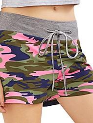 cheap -® Summer Camo Shorts for Women, Shorts Sports Casual Training Sports Yoga Running with Drawstring Chandal Women Beach Clothing On Offer – Cotton Blend, Women, pink, XL