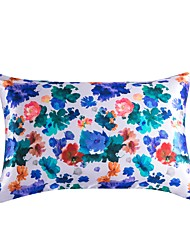 cheap -Floral Print Silky Satin Pillowcase for Hair, 2 Pack Standard Size Luxury Satin Pillowcase for Hair and Skin with Zipper Closure