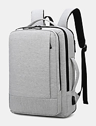 cheap -men oxford usb charging multi-pocket business laptop bag backpack