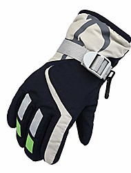 cheap -Winter Ski Gloves Waterproof Windproof Warm Gloves with Adjustable Cuff - Skiing Riding Climbing Hiking Cycling Gloves for Children, 1 Pair (Navy)