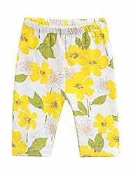 cheap -baby toddler girls' print capri pants yellow floral 24 months