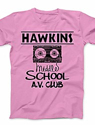 cheap -hawkins middle school tee shirt av club tshirt (pink, kids 14-16/youth l)