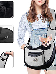cheap -pet sling, small pets puppy dog cat sling carrier bag hands-free with adjustable padded strap front pouch single shoulder bag carrying tote for outdoor walking (grey)