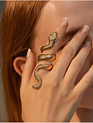 cheap -Ring Geometrical Gold Silver Alloy Snake Fashion 1pc Adjustable