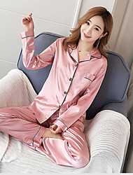 cheap -tony & candice women's sleepwear classic satin pyjama set, nightwear (large, white)