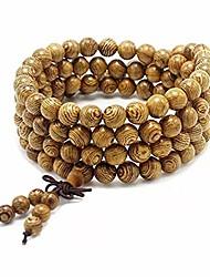 cheap -Women Men 8mm Wooden Bead Buddhist Prayer Mala Necklace Bracelet Gift Jewelry