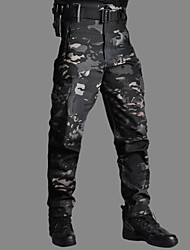 cheap -Men's Hunting Fleece Tactical Pants Softshell Pants Thermal Warm Waterproof Windproof Wearproof Autumn / Fall Winter Camo / Camouflage Bottoms for Camping / Hiking Hunting Fishing CP camouflage ACU
