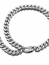 cheap -Heavy Miami Cuban Link Chain Necklace Adjustable Choker with Hip HopTail,Wide:15mm,316L Stainless Steel Curb Rapper Necklace,Gift for Men Women (Silver, 20)