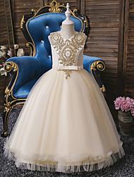 cheap -Kids Little Girls' Dress Butterfly Daisy Floral Mesh Red Yellow Blushing Pink Asymmetrical Sleeveless Cute Dresses New Year Slim