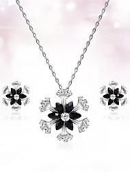 cheap -Women's Jewelry Set Cut Out Flower Precious Fashion Silver Plated Earrings Jewelry Silver For Christmas Wedding Halloween Party Evening Gift 1 set