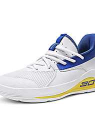 cheap -Unisex Trainers Athletic Shoes Sporty Outdoor Basketball Shoes Mesh Non-slipping White / Blue Light Blue Fall Spring
