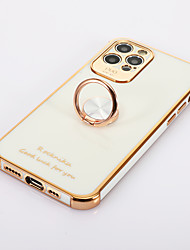 cheap -Phone Case For Apple Full Body Case iPhone 12 iPhone 12 Pro Max iPhone 12 Pro iPhone 12 Mini Ring Holder Tile Metal Aluminium