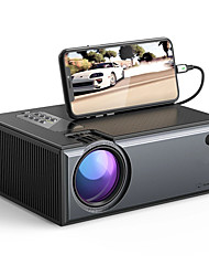 cheap -WAZA® W01-Pro LCD Projector 2800 Lumens Phone Same Screen Version Support 1080P Input Dolby Audio Wireless Portable Smart Home Theater Projector Beamer