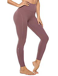 cheap -Womens High Waisted Gym Leggings, Sports Running Workout Yoga Pants Leggings for Women with Pockets - Red DS -XS