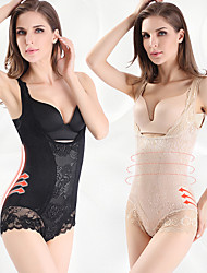 cheap -Post-partum Body Sculpting Bodysuit Sexy Lace Belly Corset Back Shaping Jacquard Bodysuit Breasted Shapewear
