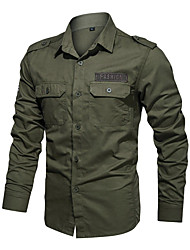 cheap -men's long sleeve military button down shirts cargo work shirt