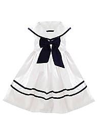 cheap -Kid's Little Girls' Dress Bowknot Light Blue Pink White Dresses