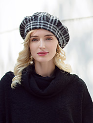 cheap -Headwear Casual / Daily Acrylic / Cotton / Rabbit Hair Hats with Plaid 1pc Casual / Daily Wear Headpiece