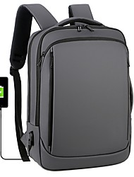 cheap -men dacron 15.6 inch usb charging multi-pocket business laptop bag backpack
