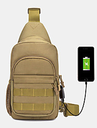 cheap -men camouflage oxford cloth travel sport riding shoulder bag chest bag with usb charging