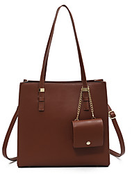 cheap -Women's Bags Top Handle Bag Date Office & Career Bag Sets Handbags Black Khaki Brown Coffee