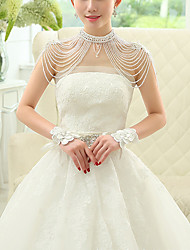 cheap -Sleeveless Shawls / Bridal Polyester / Rayon(T / R) Wedding / Party / Evening Shawl & Wrap / Women's Wrap With Acrylic Diamond / Flower