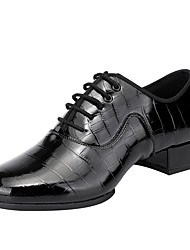 cheap -Men's Dance Shoes Latin Shoes Jazz Shoes Modern Shoes Heel Thick Heel Black Lace-up Adults'