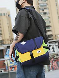 cheap -men nylon medium capacity contrast color casual personality school bag crossbody bag shoulder bag