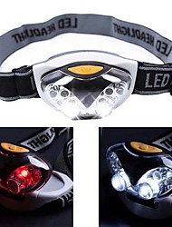cheap -Headlamps Headlight Waterproof Mini 1200 lm LED 6 Emitters 3 Mode 4 pcs white LED Lights 2 pcs red LED Lights Waterproof Mini Portable Small Camping / Hiking / Caving Cycling / Bike Hunting