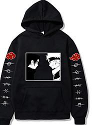 cheap -Inspired by Naruto Uchiha Sasuke Uzumaki Naruto Cosplay Costume Hoodie Polyester / Cotton Blend Graphic Prints Printing Hoodie For Women's / Men's