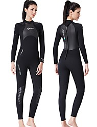 cheap -Dive&Sail Women's Full Wetsuit 3mm SCR Neoprene Diving Suit Thermal Warm Quick Dry Long Sleeve Back Zip Knee Pads - Swimming Diving Scuba Solid Colored Spring &  Fall / Stretchy
