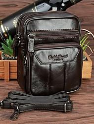 cheap -men genuine leather casual multi-layers 6.3  inch phone bag crossbody bag shoulder bag