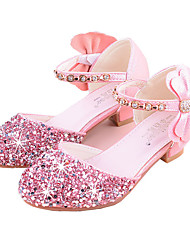 cheap -Girls' Heels Princess Shoes PU Little Kids(4-7ys) Big Kids(7years +) Party & Evening Walking Shoes Purple Pink Silver Spring Summer