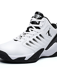 cheap -Men's Trainers Athletic Shoes Sporty Athletic Basketball Shoes PU Non-slipping Black and White Black / Red White Winter