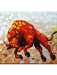 cheap -100% Hand-Painted Contemporary Art Oil Painting On Canvas Modern Paintings Home Interior Decor Abstract Bullfight Art Painting Large Canvas Art(Rolled Canvas without Frame)