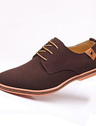 cheap -Men's Oxfords Suede Shoes Comfort Shoes Casual Party & Evening Office & Career Suede Wear Proof Camel Blue Gray Color Block Fall