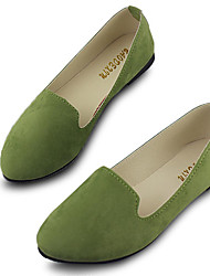 cheap -us size 5-11 women flats comfortable casual slip on pointed toe suede flat loafers shoes