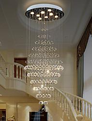 cheap -Luxury Staircase Chandeliers Lighting Crystal Pendant Light Indoor Ceiling Lighting Restaurant Lobby Cristal Lights Living Room Loft Hanging Lamp