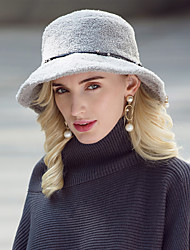 cheap -Headwear Casual / Daily 100% Acrylic Hats with Faux Pearl / Solid 1pc Casual / Daily Wear Headpiece