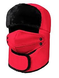 cheap -Mens Womens Outdoor Fur Aviator Ski Hat Winter Anti Cold Ski Snow Snowboard Trapper Hat Super Warm Caps Thick Warm Neck Ear Face Wrap Warmer Red