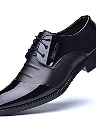 cheap -Men's Oxfords Business Casual Daily Office & Career Walking Shoes PU Non-slipping Shock Absorbing Wear Proof Black Brown Fall Spring
