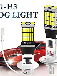 cheap -2pcs Car LED Fog Lights H3 H1 Light Bulbs 2400 lm SMD 4014 26 For universal All years