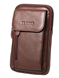 cheap -genuine leather 5.5-7″ cell phone bag waist bag crossbody bag for men