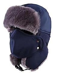 cheap -Outdoor Winter Waterproof Trapper Hat Ushanka Russian Hat with Ear Flap Mask (Dark Blue)