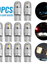 cheap -10pcs LED T10 W5W No Error 3030 T10 LED For Car Parking Lights Clearance Bulbs Interior Dome Lights 12V White Canbus